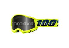 Очки 100% STRATA 2 Sand Goggle Fluo Yellow - Smoke Lens