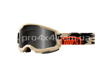 Очки 100% STRATA 2 Sand Goggle Kombat - Smoke Lens