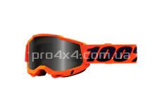 Очки 100% STRATA 2 Sand Goggle Neon Orange - Smoke Lens