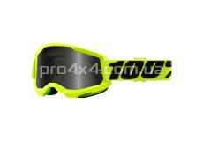 Очки 100% STRATA 2 Sand Goggle Yellow - Smoke Lens